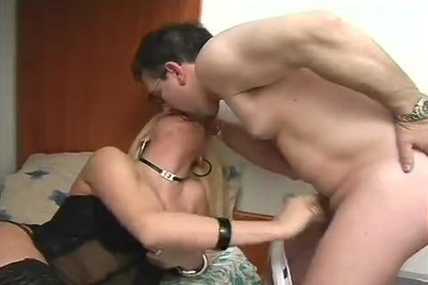 Blond Latino lady-man In lingerie slam Hard An daddy lad