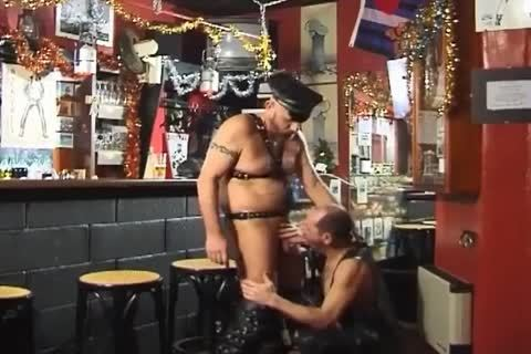 those Two large boyz Wearing Leather have a enjoyment sleazy Sex At The Bar
