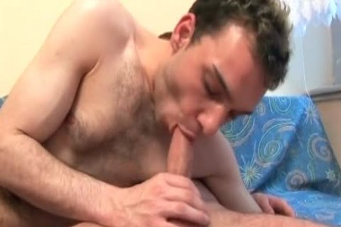 hirsute Male beauty face gap-plowing Boyfriend's enormous Banana