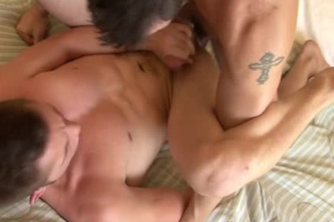Tattooed homo acquires butt Smashed Well