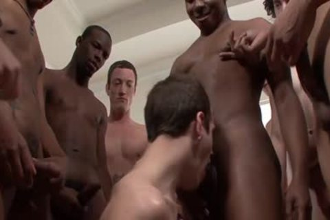 group Of darksome And White homosexual males