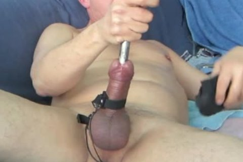 During My Second Session, When My Urethra Was A Bit Wider, I discharged My Load while The Sound Was Still In My 10-Pounder. Using 16 And 17mm Sounds During This bdsm Masturbate Session.