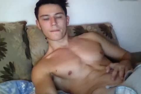 fashionable pumped up homosexual lad Cums All Over His Hard Abs On web camera. worthy taut ass.