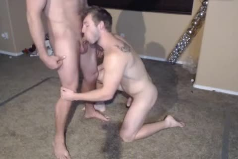 two Muscle males in nature's garb Wrestling.The  Loser One Gives A oral sex joy. love juice Facial first Time On web camera.