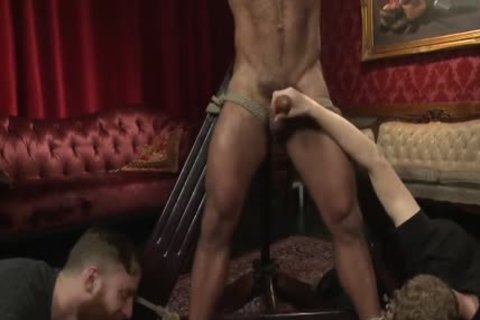 Muscle-fastened Hunk fastened Up And Teased