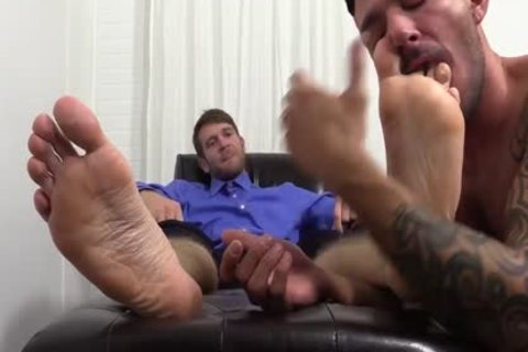 excited Colby Jerks Hard dick During Foot Worship From Johnny