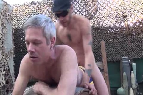 Blond chap acquires His arsehole Rimmed And banged Outside doggy style