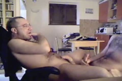 wanking And a lot of ball goo