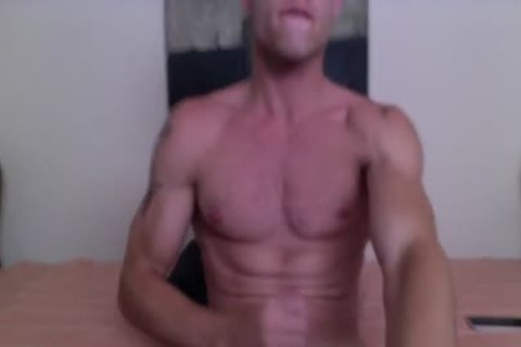 Justin Matthews Has A ball sex cream Fest On His Six-Pack Abs