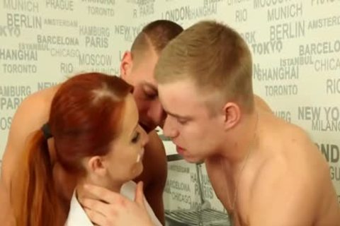 juicy bisexual men fucking With A Redhead
