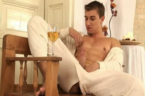 This handsome gay man Comes Home And Drinks Some Wine previous to His Has A Sensual Self Devotion Session