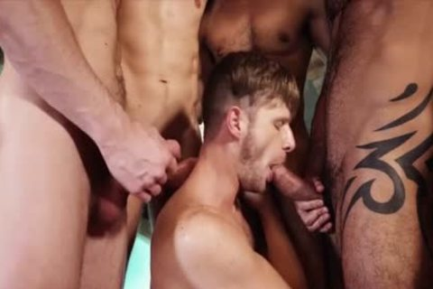 delicious homosexuals threesome With cream flow