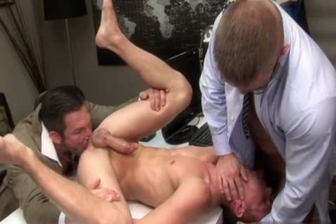 gigantic dong homo threesome With Facial