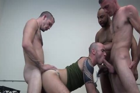 Latin gay double penetration And cumshot