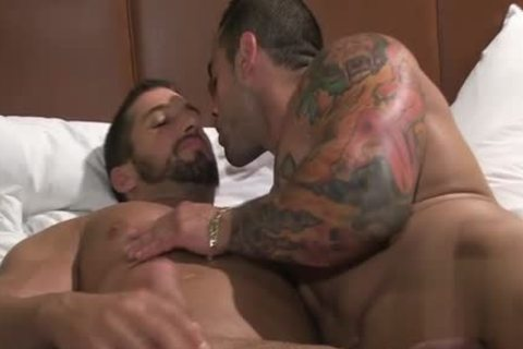 Tattoo Bodybuilder oral sex-sex With ejaculation