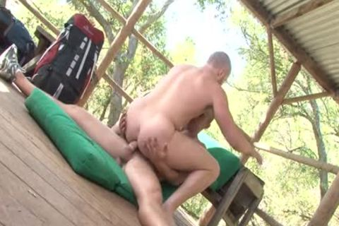 Muscle Bottom Outdoor Sex With ejaculation
