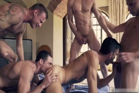 horny gay DP With ejaculation