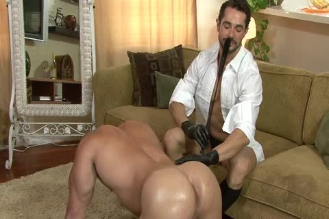 tasty boy On All Fours Used By Other boy In Gloves