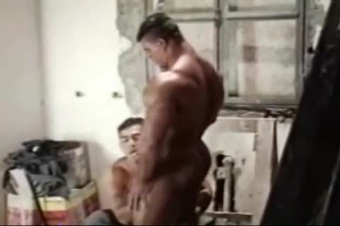 Brasil Bodybuilders large wazoo hammered By Hunk