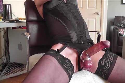 darksome Corset, nylons, steel Rings And sperm