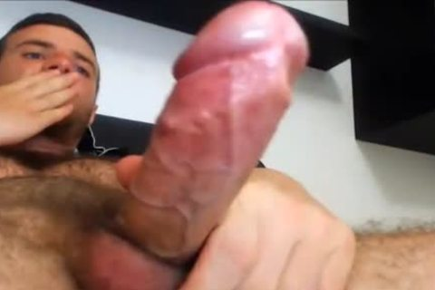 bushy Point Of View Jacking Of This young College guys stiff Hard Boner