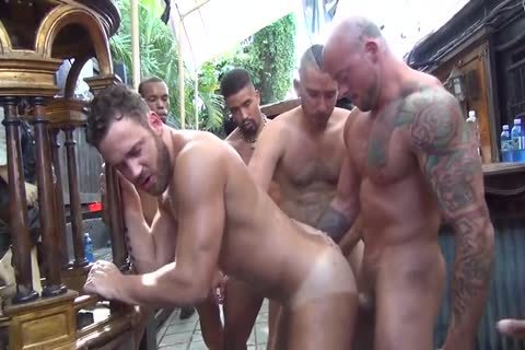 Logan Moore receives group gangbanged – Part two (2017)