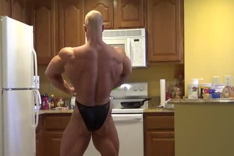 Brandon Posing In Kitchen