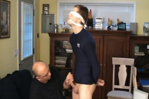 Straight Captive lad, tied And Gagged, Made To cum