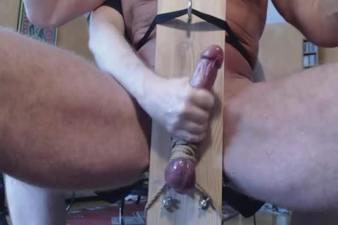 Milking This Alphas knob In A Milking Chair