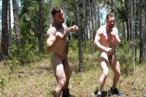 two Swinging rods In The Woods