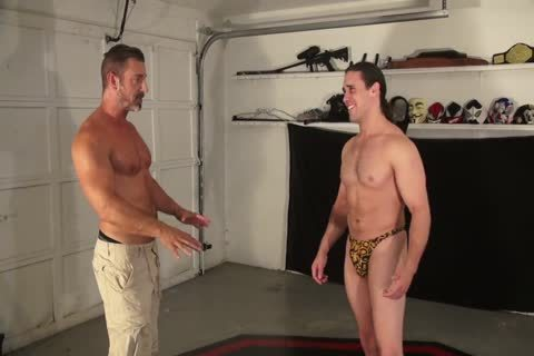 tasty Daddy Dominates A lengthy-haired Younger guy