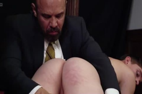 Being Spanked And Having A toy Inserted By Daddy