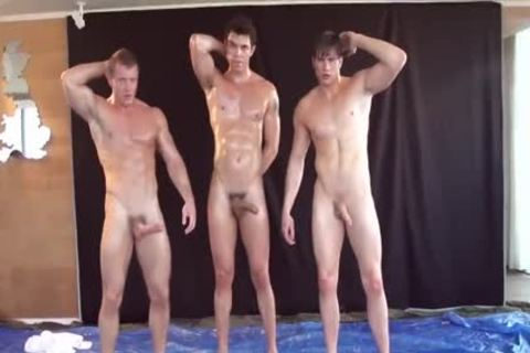 Leo, Matt, And Joshua Wrestle And jerk off
