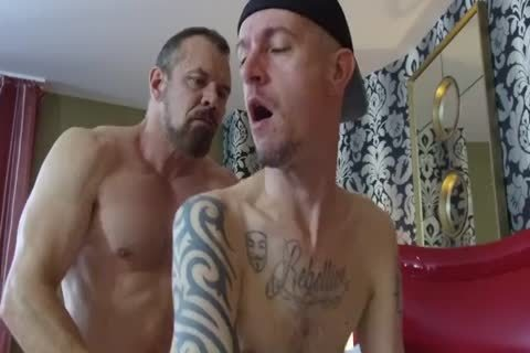 Robert Rexton receive's plowed By Muscle Daddy's Max Sargent & Chance Caldwell