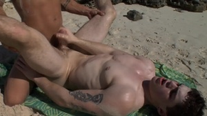 Sex On The Beach - Brent Everett and Eric Clark butt nail