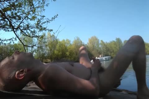homosexual Solo Masturbation outdoors