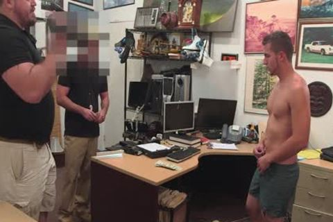 homosexual PAWN - young str8 blond guy Has homosexual threesome For Bail money