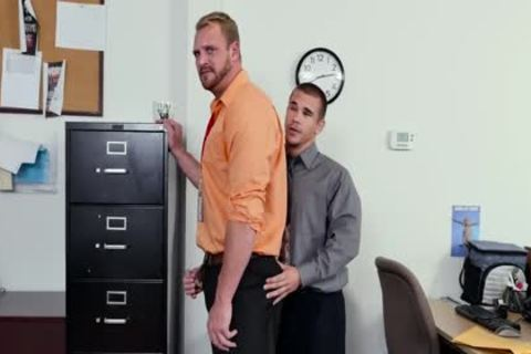 GRAB butthole - new Employee acquires Broken In By The Boss, Adam Bryant
