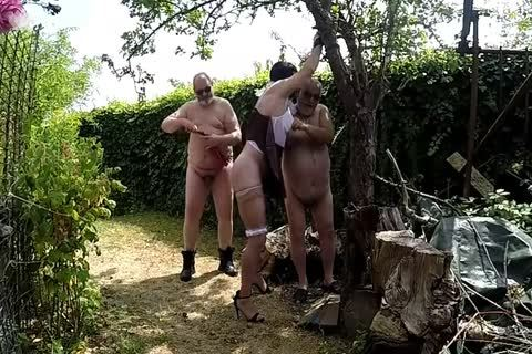 lengthy Whipping Session Outdoor