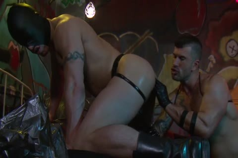 Adam Killian In Latex Forces Jesse Santana To take up with the tongue His anal