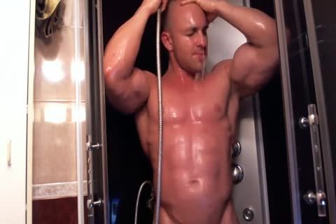 muscular chap In The Shower Getting lascivious