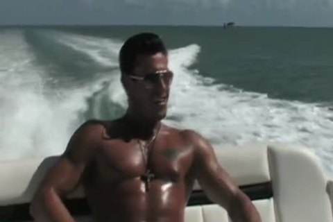 Javier bare On A Boat