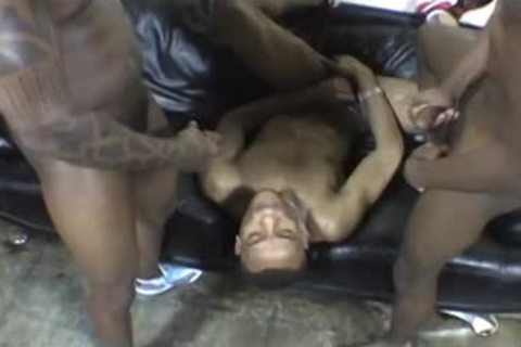Two Hung guys Stretch Open His Moist anal