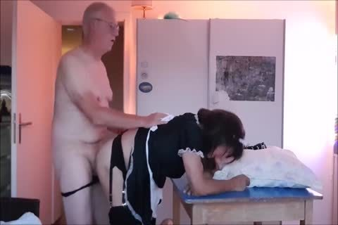 Maid Sissy Cleans abode Sucks penis acquires banged