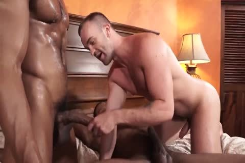 two darksome dudes Take A White boyz butt