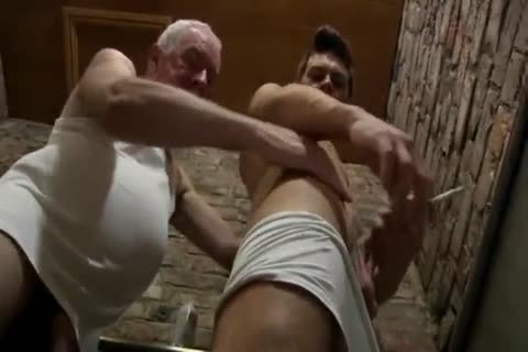 good Looking daddy man & young dude engulf Each Other In A Public