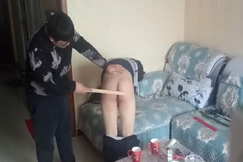 messy lad Came During His spanking