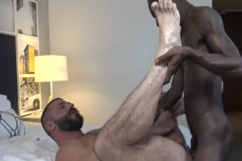 Jamaican Boi fucks Jake Morgan in nature's garb