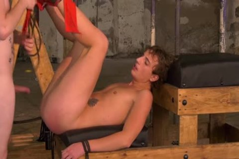 fastened Up twink Endures rough raw fucking By dom