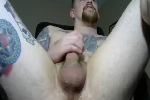 Tattooed Straight lad Takes A vibrator